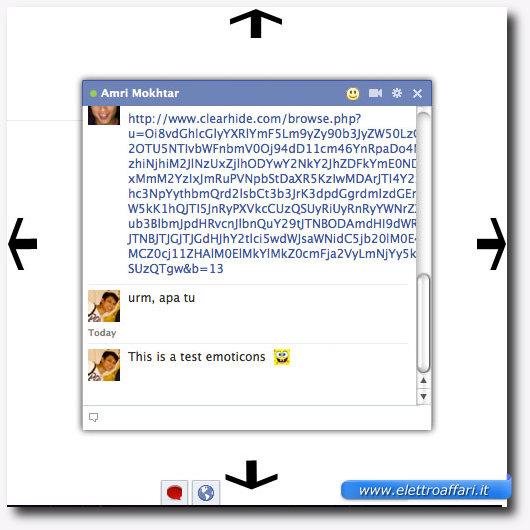 Possibilità di ingrandire e diminuire la dimensione della chat di Facebook