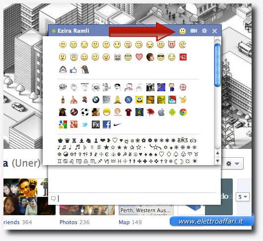 Aumentare il numero di emoticon della chat di Facebook