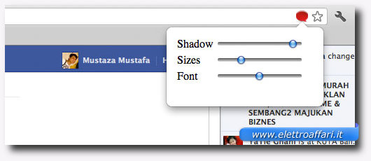 Modificare le dimensioni dei caratteri e dei font di Facebook