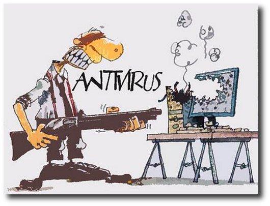 Immagine divertente sugli antivirus