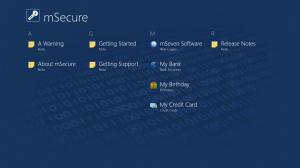 Immagine dell'applicazione mSecure per Windows 8