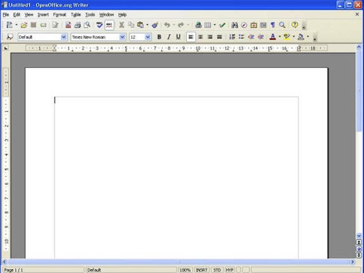 Interfaccia grafica di OpenOffice