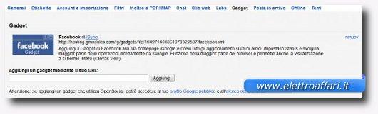 Immagine del gadget per sbloccare Facebook con Gmail