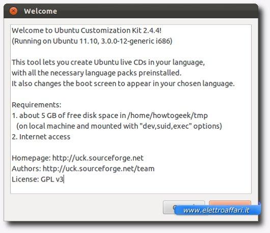 Elenco dei requisiti richiesti per creare la nostra immagine di Ubuntu