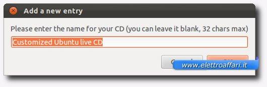 Scelta del nome del Live CD