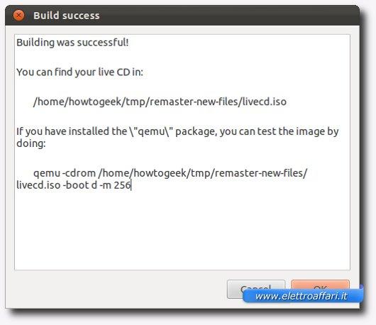 Creazione del file ISO