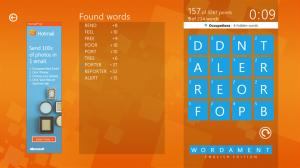 Immagine del gioco Wordament per Windows 8