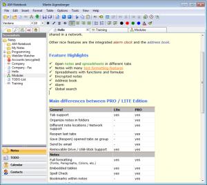 Immagine del software AM-Notebook per prendere note