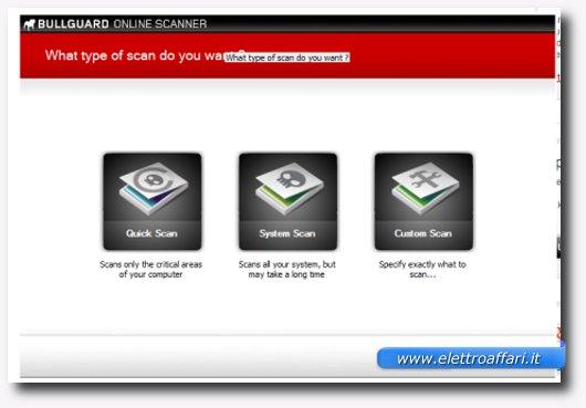 Immagine dell'antivirus online BullGuard Online Scanner