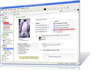 Immagine del software BasKet Note Pads per prendere note