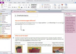 Immagine del software OneNote