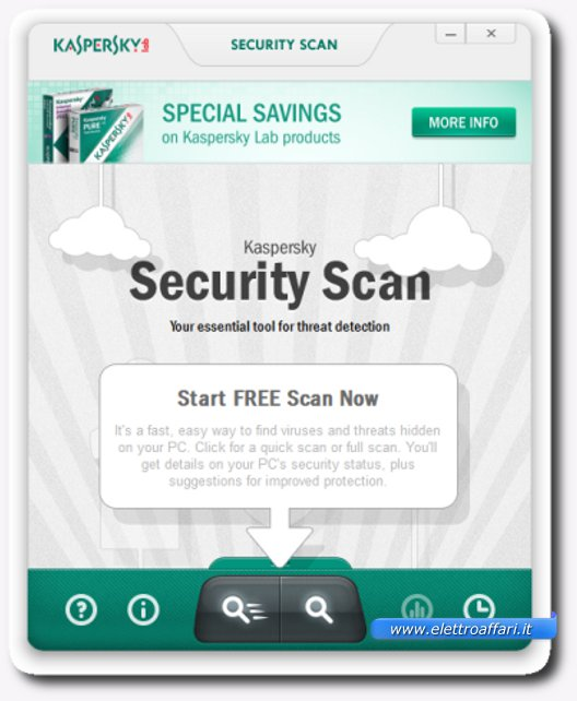 Immagine dell'antivirus online Kaspersky Security Scan