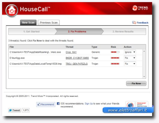 Immagine dell'antivirus online Trend Micro HouseCall