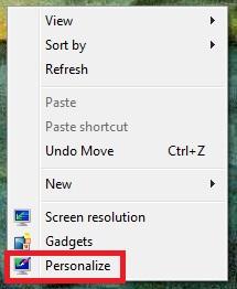 Aprire le impostazioni degli screensaver