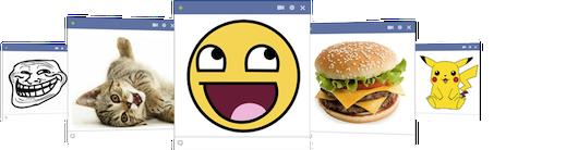 Esempio di utilizzo delle immagini nella chat di Facebook