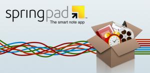 Immagine del software SpringPad per prendere note