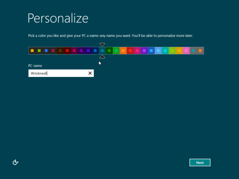Scelta del colore di sfondo delle schermate di Windows 8