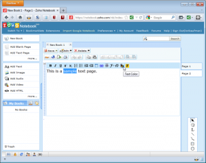 Immagine del software Zoho Notebook per prendere appunti