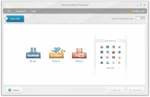 Interfaccia grafica del software Freemake Video Downloader