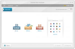 Interfaccia grafica del software Freemake Video Downloader