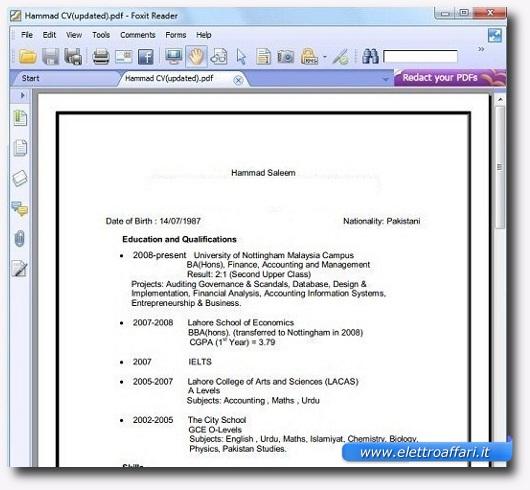 Immagine dell'applicazione Foxit Reader Portabile