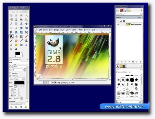 Immagine dell'applicazione GIMP Portabile
