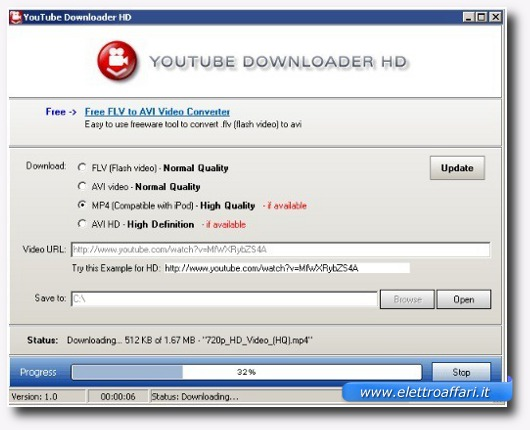Immagine dell'applicazione YouTube Downloader HD Portabile