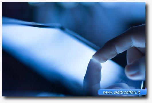 Immagine di uno schermo touch screen