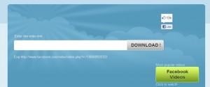 Interfaccia grafica del sito Facebookvideodown