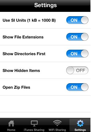 Schermata di configurazione dell'iPhone