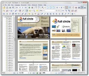 Immagine del software Foxit Reader per leggere PDF