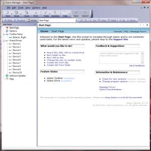 Interfaccia del software Gizmo Drive