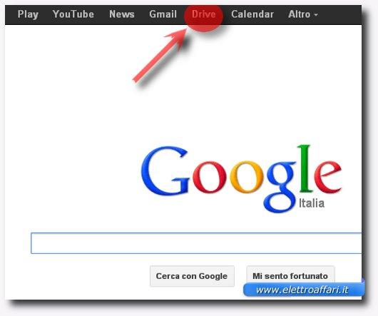 Immagine dell'accesso a Google Docs