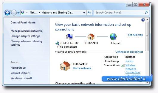 Immagine delle connessioni internet di Windows