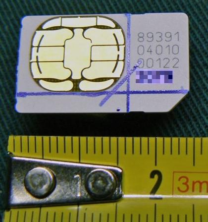 Misure per il taglio di una SIM da trasformare in Micro-SIM