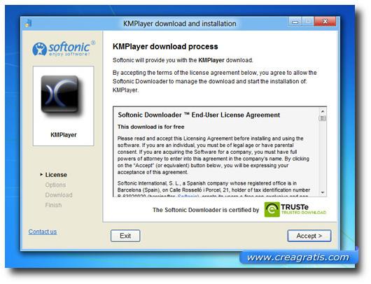 Pagine del download del software KMPlayer