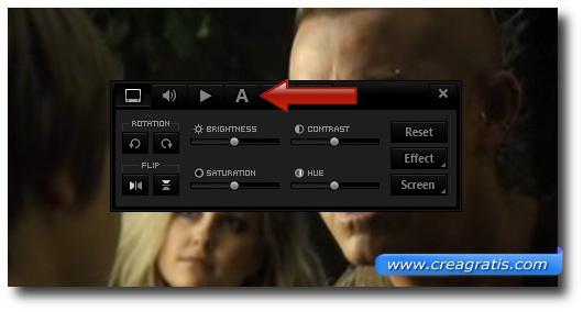 Pulsante da cliccare per accedere al menù ReSync