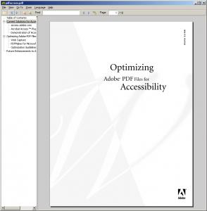 Immagine del software Sumatra PDF per leggere PDF