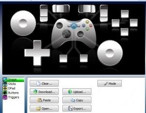Interfaccia del software XPadder per settare il controller