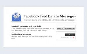Estensione per Chrome per cancellare i messaggi di Facebook