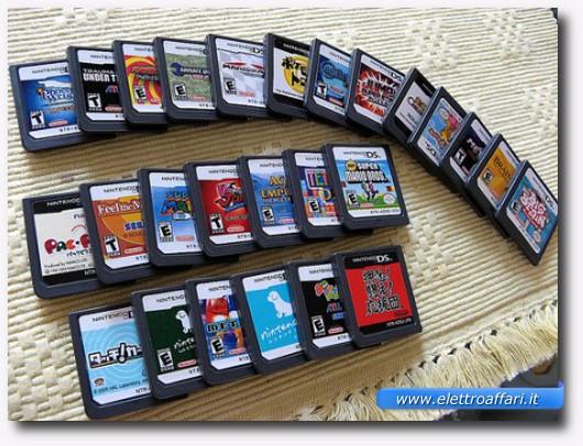 Immagine di alcune cartucce dei giochi per Nintendo DS