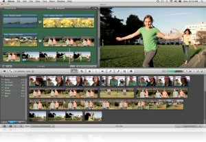 Interfaccia grafica del programma iMovie