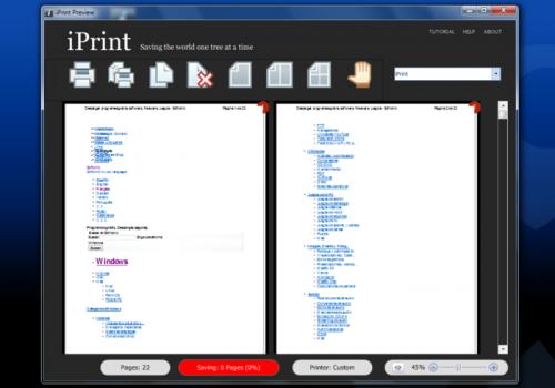 Interfaccia del software iPrint