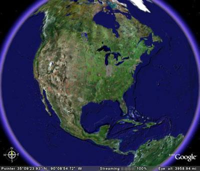 Immagine del software Google Earth