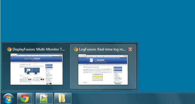 Interfaccia del software Display Fusion