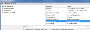 Schermata dell'applicazione System Information di Windows 7