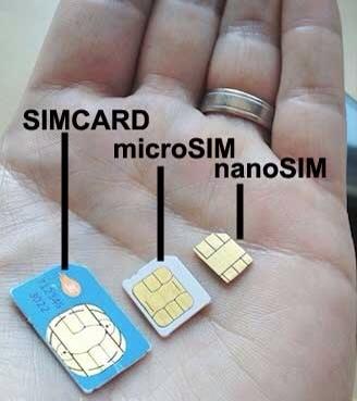 Immagine che mostra le differenze tra le varie SIM