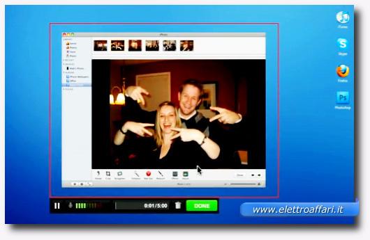Interfaccia del programma Screenr