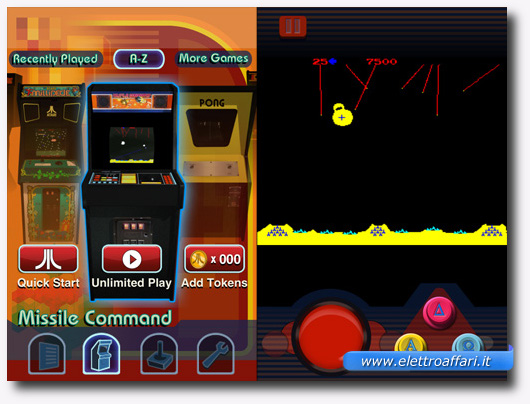 Immagine del gioco Missile Command – Atari's Greatest Hits per iPhone