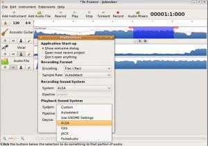 Interfaccia del programma Jokosher